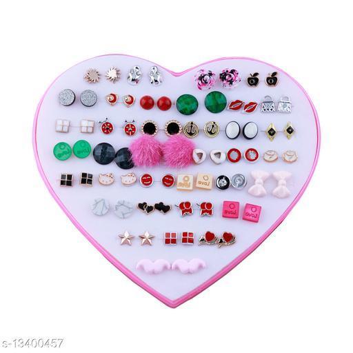 Stud Earring Designer Delicate look Stud Earring Set of 36  for Women girl