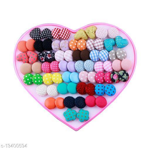 Stud Earring Lovely Multicolor Multi Designe Set Of 36 Earrings for girls