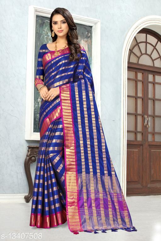 KUTCHI SAREE Women's Silk Saree With Jari Weiving Contrast border Party Wear Saree