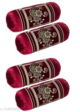 HK Collection Velvet Luxury Bolster Cover (Set of 4 Pieces)