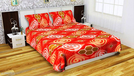 Newleaf Trends Warm bedsheet double bed for winter with 2 pillow cover (90x100 Inches, Queen)