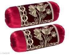 Trendy Velvet Luxury Bolster Cover (Set of 2 Pieces)