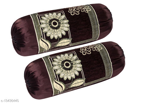 HK Collection Velvet Luxury Bolster Cover (Set of 2 Pieces)