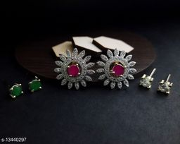 American Diamond Rose gold color earring for women & girl