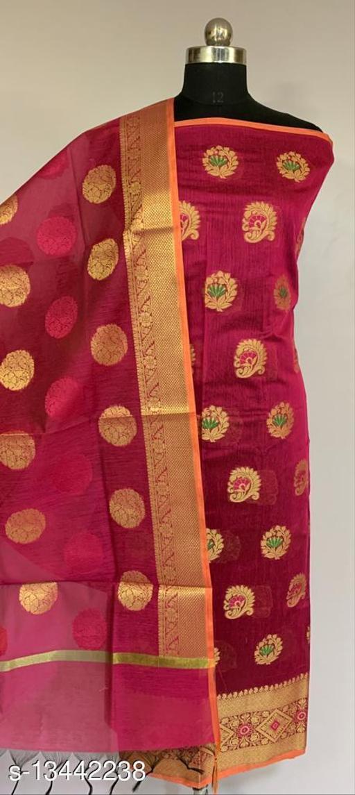 Banarsi Cotton Suit (42Pink)