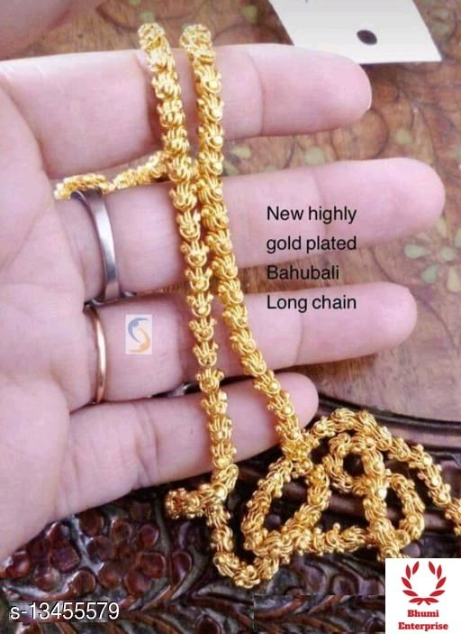 Bhumi09 New Highy Gold Plated Bahubali Long Chain For Women