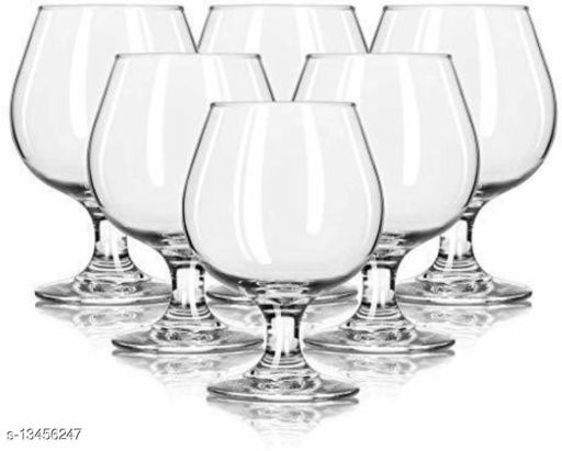 Afast Royal Wine, Cocktail, Champagne Drinking Clear Glass Set- S4