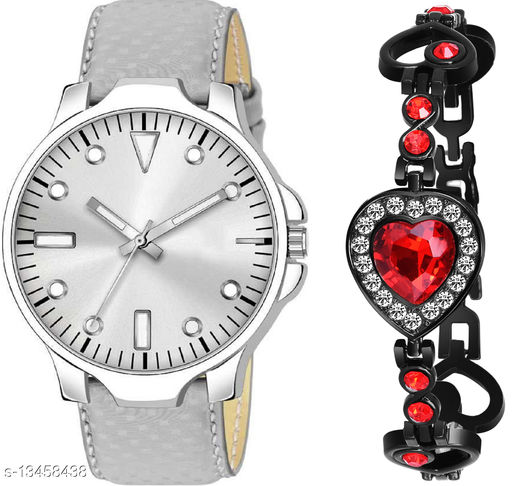 K483 & J19 new Attrective Two Watches combo For Men & Women Bracelet