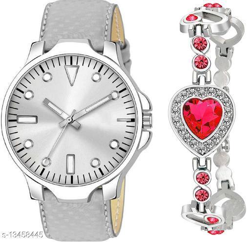 K483 & J8 new Attrective Two Watches combo For Men & Women Bracelet
