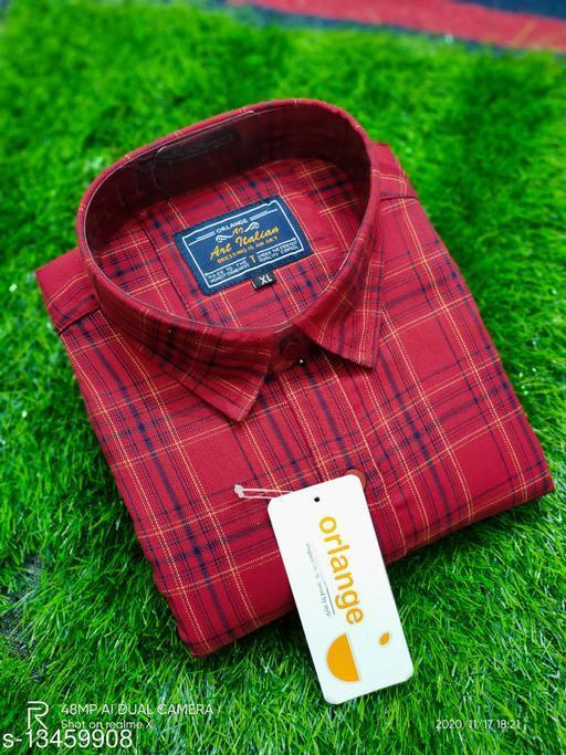 Men's Casual Check and Printed Shirt,