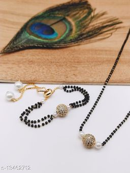 Mangalsutra with earring for women