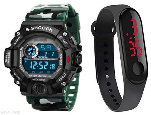 Green Scapper Trendy Digital Watch For Men & Boys-2610