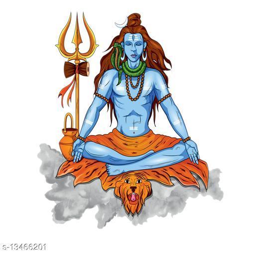Masstone Lord Shiva Religious God Wall Sticker