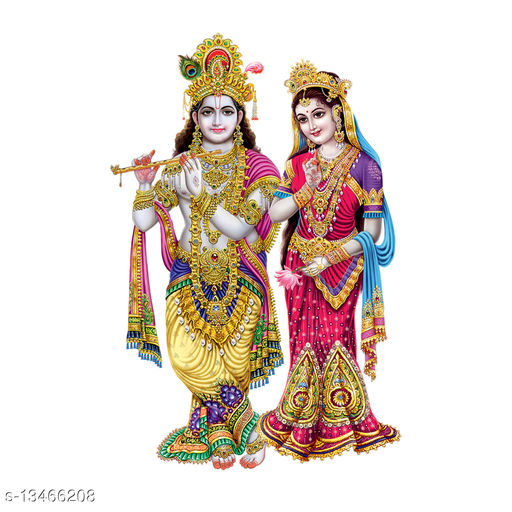 Masstone Radha Krishna Religious God Wall Sticker