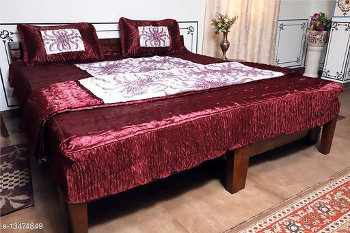 Trendy Silk King Size Bedsheets