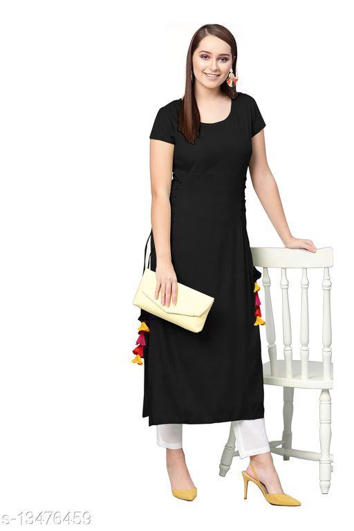 Women's rayon plain kurti