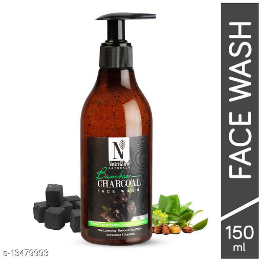 NutriGlow Natural's Bamboo Charcoal Face Wash_150ml