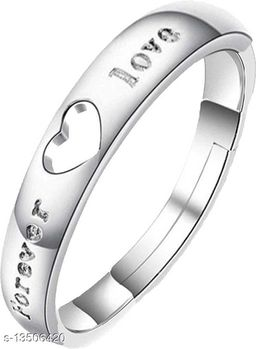 Cz Jewellery Forever Love Adjustable Ring for Boys and Men FR1000944