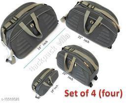 Trendy Men's Multipack Grey PU Duffel Bags