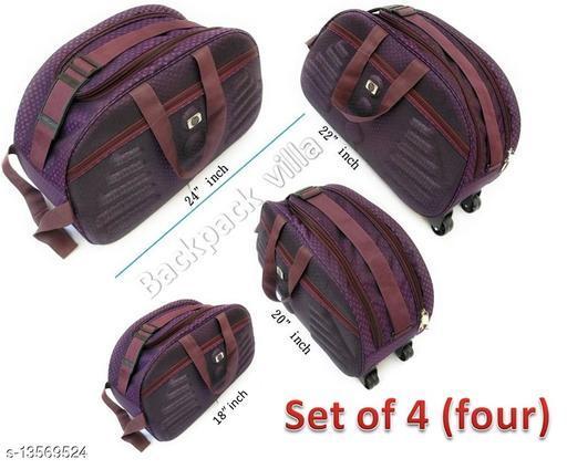 Trendy Men's Multipack Multicolor PU Duffel Bags