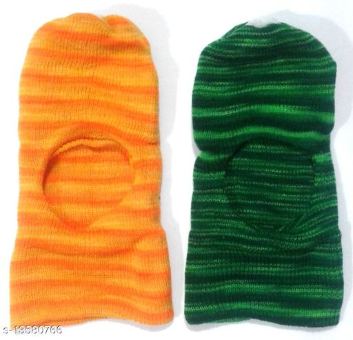 Baby Woolen Monkey Caps (0-18 Months - Pack of 2)