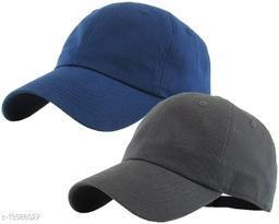 Stylish Men's Combo Darkgrey & NavyBlue Cotton Caps