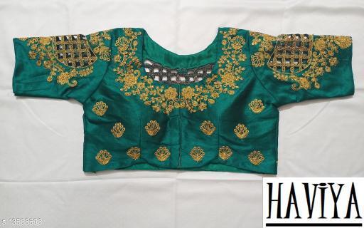 Women's Phantom Silk Rama Embroidered Unstitch Blouse