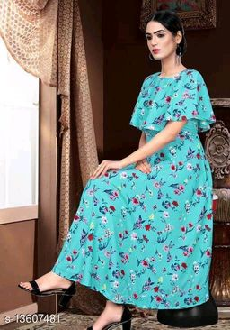 Zanies Printed Rama Colour Crepe Dress