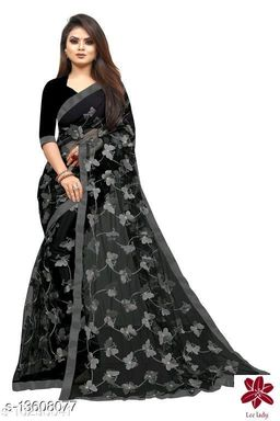 Butterfly Black&Grey contrast Netsaree New Design of good quality butterfly