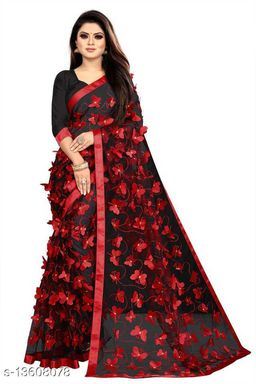Butterfly Black&Red contrast Netsaree New Design of good quality butterfly