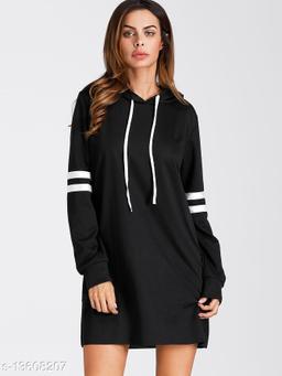 Fabrange Long Stripe Black Hoodie