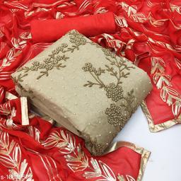 Trendy Chanderi Silk Salwar Suits & Dress Materials