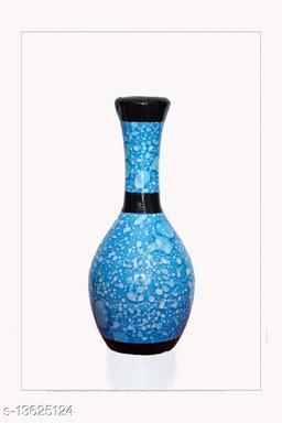 Blossom Flower Pot Home Decorative Flower Pot (Wooden) L X H X W- 30X13X13 CM-000101(Light Blue)