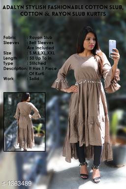 Yash Gallery Stylish Fashionable Rayon Slub