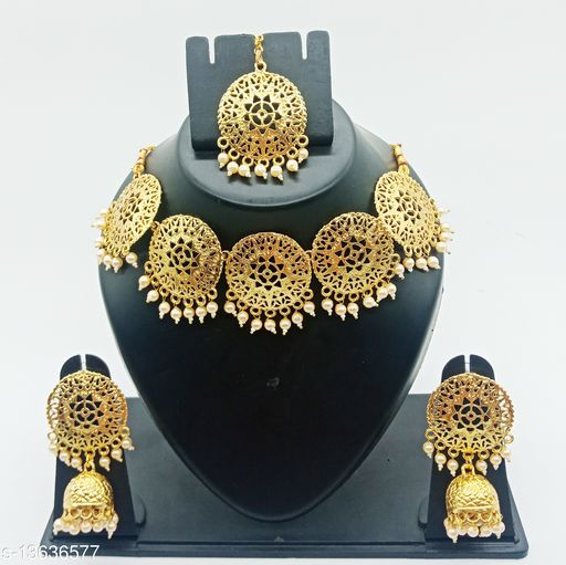 Star Style Coin Gold Colour Necklace Set