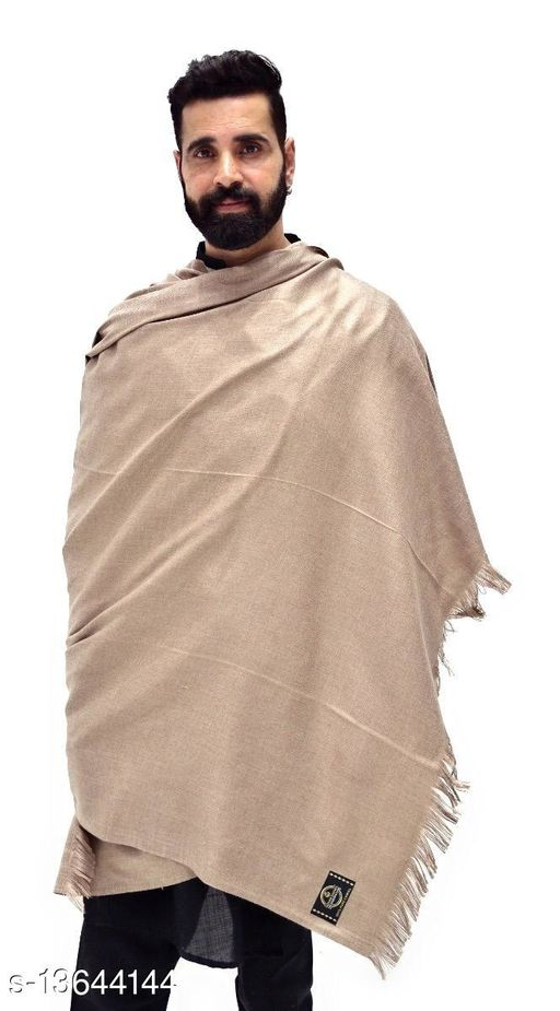 Men's Woven Wool Blend Plain Shawl/Lohi