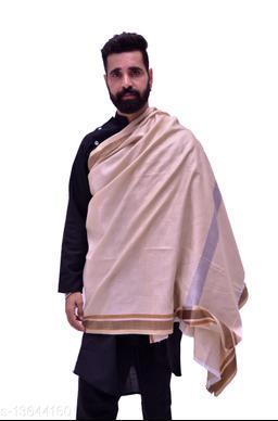 Men's Woven Self Design  Border Shawl/Lohi 50*100