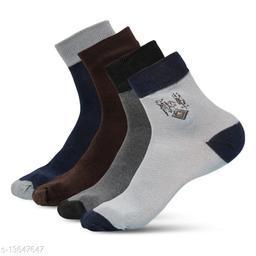 WISHLAND™ Men's Ankle Length Sports Socks(Pack of 3)