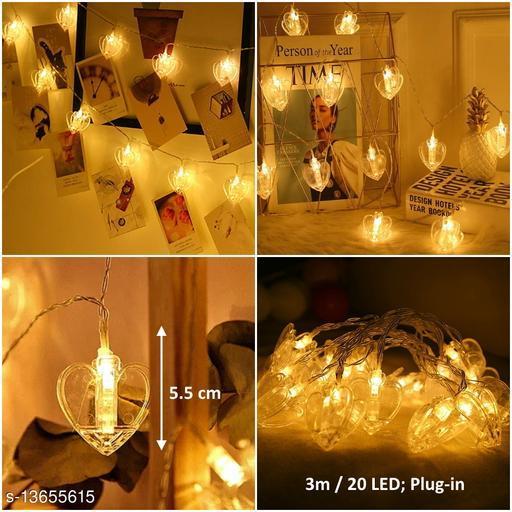 20 Heart Photo Clip LED String Light