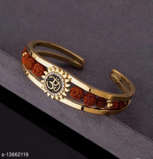 Stylish Men's Golden Rusdraksha Bracelet
