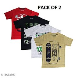 BOYS FANCY COTTON TSHIRT PACK OF 2 BY ROOPRANG