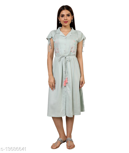 UNI LARENN womens knee length kurti dress