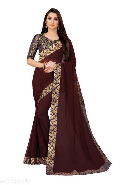 Anand Sarees Chiffon Saree with Blouse Piece