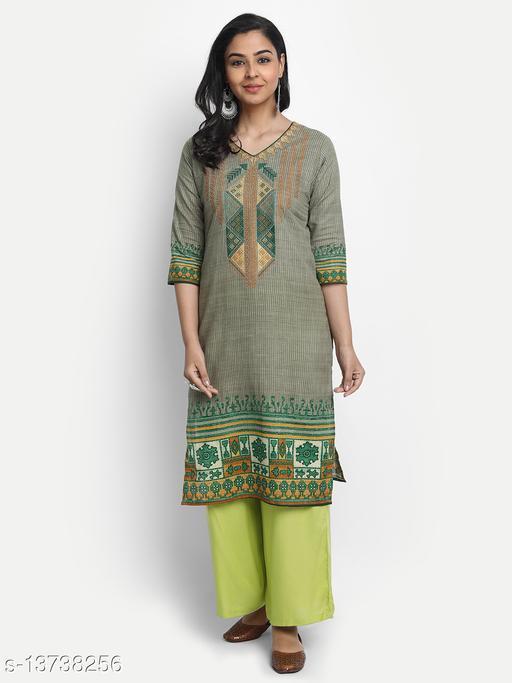 Sancom Women's Cotton Embroidered Kurta