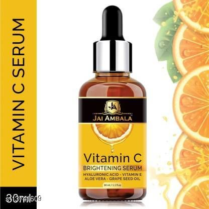 Face Oil & Serums Jai Ambala Vitamin C 20% Brightening Facial Serum - For Skin Whitening & Anti Aging- (30 ml) Product Name: Jai Ambala Vitamin C 20% Brightening Facial Serum - For Skin Whitening & Anti Aging- (30 ml) Finish: Matte Type: Liquid Multipack: 1 Country of Origin: India Sizes Available: Free Size    Catalog Name:  Premium Ultra Compact CatalogID_2708250 C170-SC2015 Code: 471-13741609-