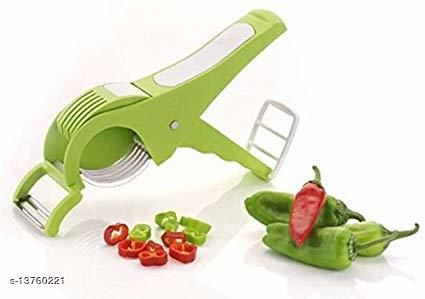 INFO TECH Vegetable Cutter 5 Sharp Blade with Peeler 2 in 1 - Multicolour