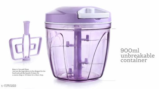 INFO TECH Jumbo Vegetable Chopper, Cutter, Whisking Set with Storage Lid for Kitchen; 5 SS Blades + Whisker Blade (900 ML)