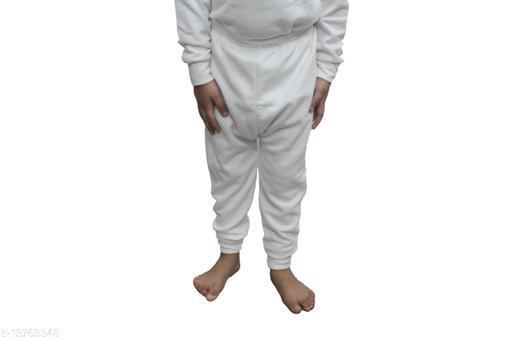Neeba White Thermal Bottom For Kids (Girls) (3-6 Months)