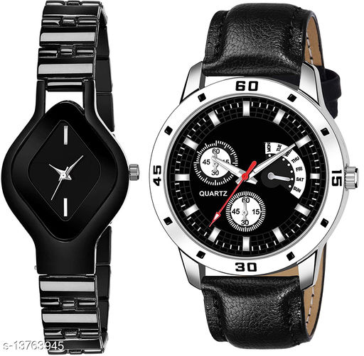 L714 & K142 COMBO OF  TWO PREMIUM Watches For Women & Men