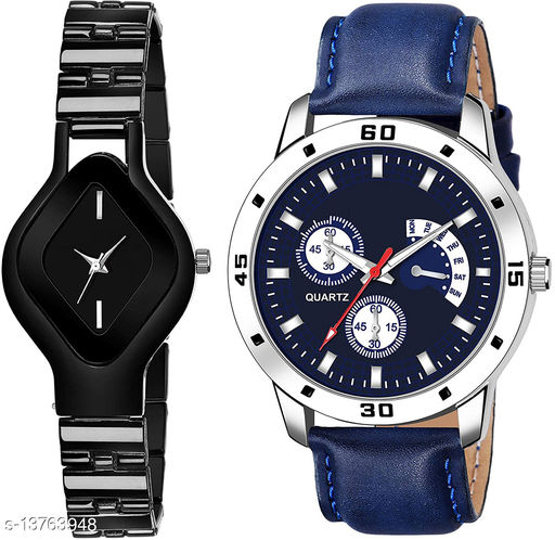 L714 & K144 COMBO OF  TWO PREMIUM Watches For Women & Men
